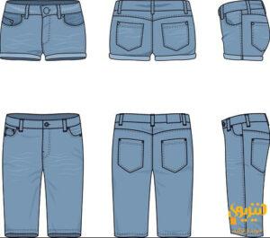 شلوار جین کوتاه و بلند