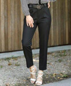 ZARAZA Kadın Lastik Bel Kemerli Pantolon