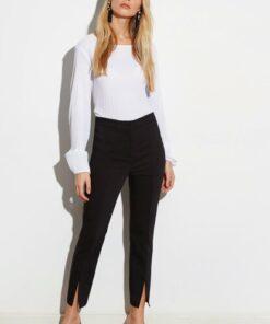 LC Waikiki Kadın Yeni Siyah Pantolon 0SJ164Z8