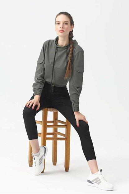 Moda Rumel Kadın Kanguru Cep Sweatshirt