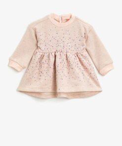 Koton Pembe Kız Bebek Elbise