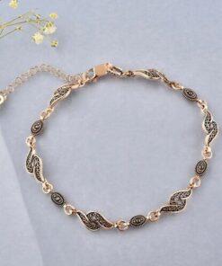 jelux silver Kadın Rose Telkari Gümüş Bileklik