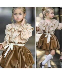 Ricco Sonbahar Style Kız Çocuk Elbise