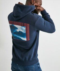 TRENDYOL MAN Lacivert Erkek Baskılı Sweatshirt TMNAW21SW0641