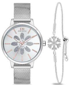 Duke Nickle Kadın Gümüş Kol Saati Seti T3xbg17001e