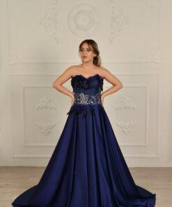 Atelier Masal Straplez Saten A-line Uzun Abiye&mezuniyet Elbisesi