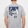 TRENDYOL MAN Gri Erkek Oversize Kısa Kollu Baskılı T-Shirt TMNSS21TS3166