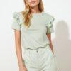 TRENDYOLMİLLA Mint Basic Örme T-Shirt TWOSS21TS2130