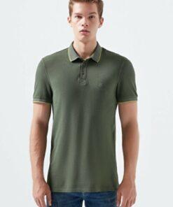 Mavi Yeşil Polo Tişört